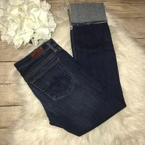 AG Adriano Goldschmied The Stevie Cuff Crop Jeans
